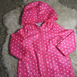 2 Baby Gap Lined Pink Polka Dot Raincoat